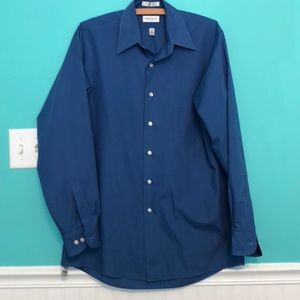 Royal  blue men's medium dress shirt